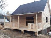 Дома сруб из бруса Ольга 7×8 установка в Жодино